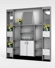 酒柜陈列柜模型3d模型