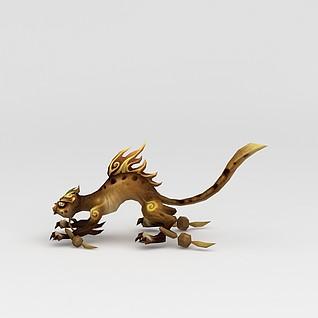 创世西游动漫游戏角色恐龙3d模型