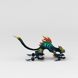 创世西游动漫游戏角色怪物3d模型