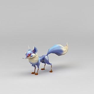 创世西游动漫游戏角色狐狸3d模型
