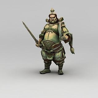 创世西游动漫游戏人物战士3d模型