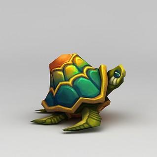 创世西游动漫游戏角色乌龟3d模型