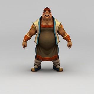 创世西游动漫游戏人物男人3d模型