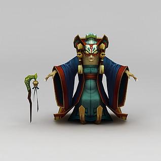 创世西游动漫游戏人物3d模型