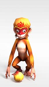 3d创世西游动漫游戏角色<font class='myIsRed'>猴子</font>模型