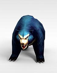 创世西游动漫游戏角色大熊模型3d模型