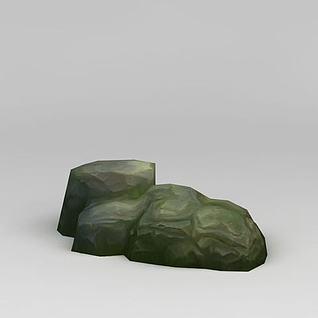 手绘石头3d模型