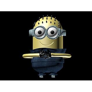 动漫游戏角色小黄人3d模型