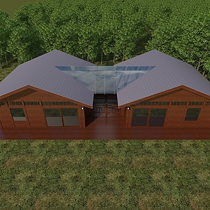 現代木屋模型3d模型