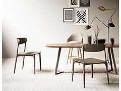 简约实木桌椅组合3D模型3d模型