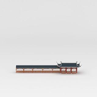 廊亭3d模型