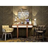 北欧简约桌椅家具组合3D模型3d模型