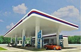 加油站模型