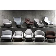 现代休闲沙发椅组合3D模型3d模型