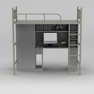 现代学生宿舍床模型3d模型