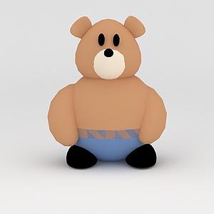 3d<font class='myIsRed'>儿童玩具</font>玩偶熊模型