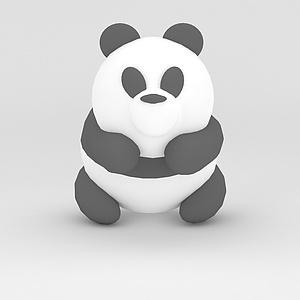 3d玩偶兒童玩具<font class='myIsRed'>熊貓</font>模型