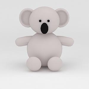 3d玩偶<font class='myIsRed'>儿童玩具</font>考拉模型