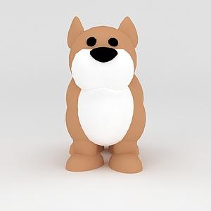 3d玩偶<font class='myIsRed'>儿童玩具</font>狗模型