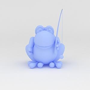 3d玩偶<font class='myIsRed'>儿童玩具</font>青蛙模型