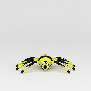玩偶儿童玩具蜘蛛3d模型