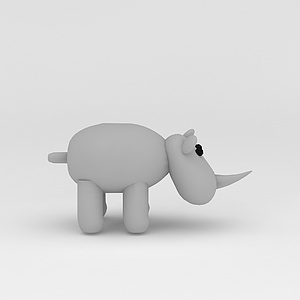 3d玩偶兒童玩具<font class='myIsRed'>犀牛</font>模型