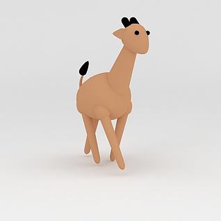 玩偶儿童玩具长颈鹿3d模型