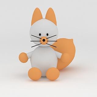 玩偶儿童玩具松鼠3d模型