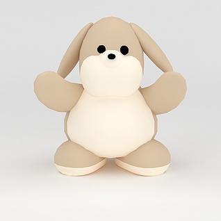 玩偶儿童玩具小狗3d模型