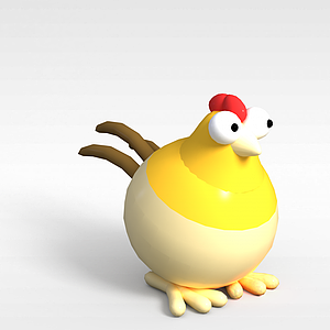 3d玩偶<font class='myIsRed'>儿童玩具</font>公鸡模型