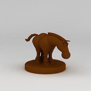 儿童玩具玩偶小马3d模型