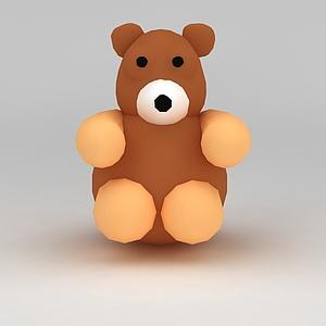 儿童玩具玩偶小熊模型3d模型