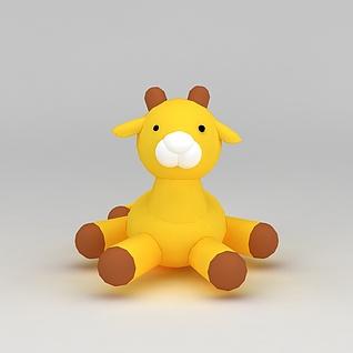 儿童玩偶小鹿3d模型