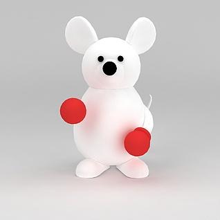儿童玩具玩偶白色小熊3d模型