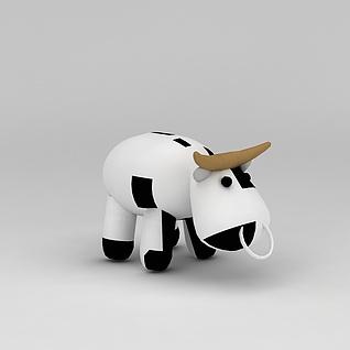 儿童玩具玩偶奶牛3d模型