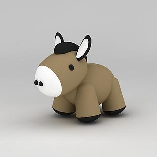 儿童玩具玩偶驴子3d模型