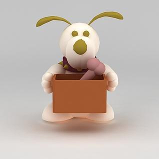 儿童玩具玩偶小兔子3d模型