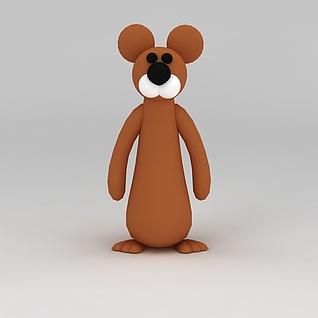 儿童玩具玩偶熊3d模型