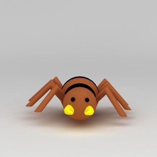 儿童玩具玩偶蜘蛛3d模型