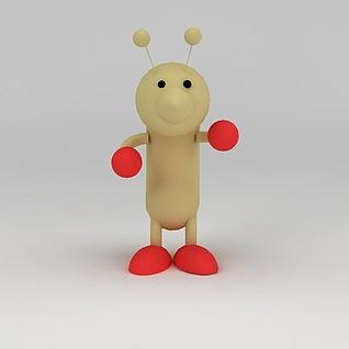 儿童玩具玩偶蚂蚁3d模型