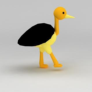 儿童玩具玩偶小鸟3d模型