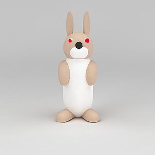 儿童玩具玩偶兔子3d模型