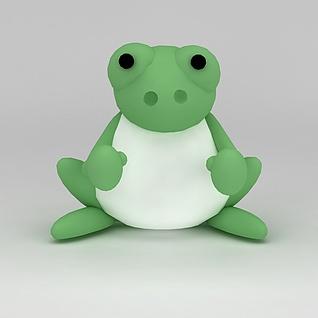 儿童玩具玩偶青蛙3d模型