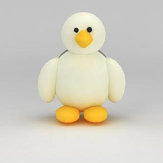 儿童玩具玩偶小鸡3d模型