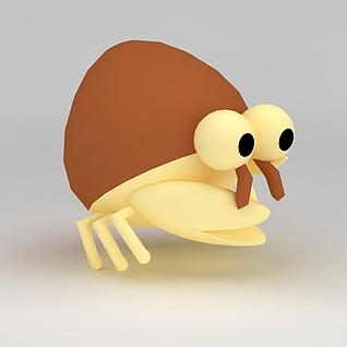 儿童玩具玩偶螃蟹3d模型