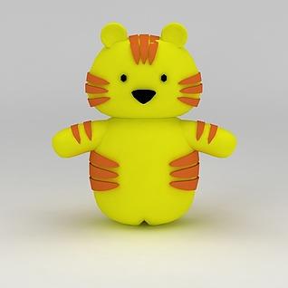 儿童玩具玩偶小花猫3d模型