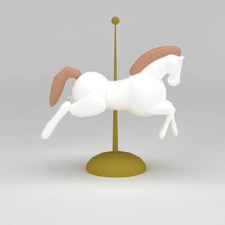 儿童玩具设备旋转木马3d模型
