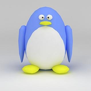 儿童玩具玩偶企鹅3d模型