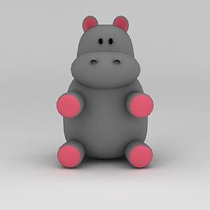 3d<font class='myIsRed'>儿童玩具</font>玩偶河马模型