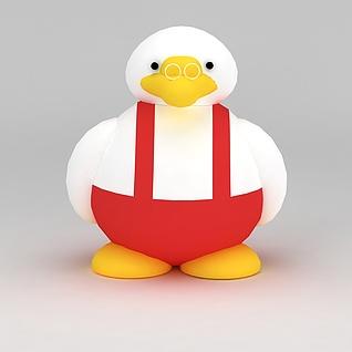 儿童玩具小鸭子玩偶3d模型3d模型